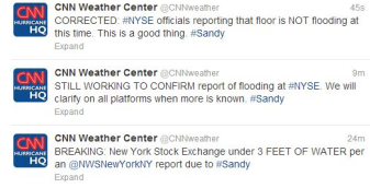 CNN falsely reports NYSE flooding